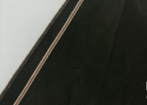 13.2oz Black Stretch Selvedge Denim Fabric W150212