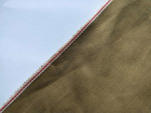 6.35oz Brown Selvedge Khaki Denim Fabric W0447A