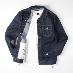 Mens Raw Selvedge Denim Jacket J881