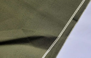 10.4oz Green Selvedge Denim Spandex Fabric W9361