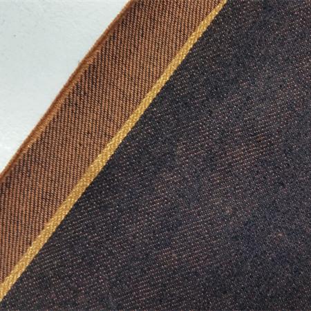 18.6oz Orange Warp Yarns Best Raw Selvedge Denim Material Wholesale W89833-2